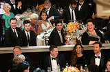 Spot the stars! Helen mirren, Melissa McCarthy, Camila Alves and more watched the action on stage.  Source: Christopher Polk/NBC/NBCU Photo Bank/NBC