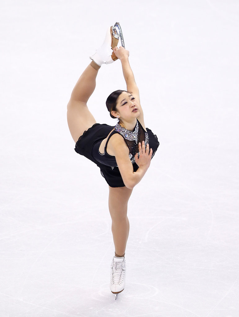 Mirai gracefully performed during the free-skate program.