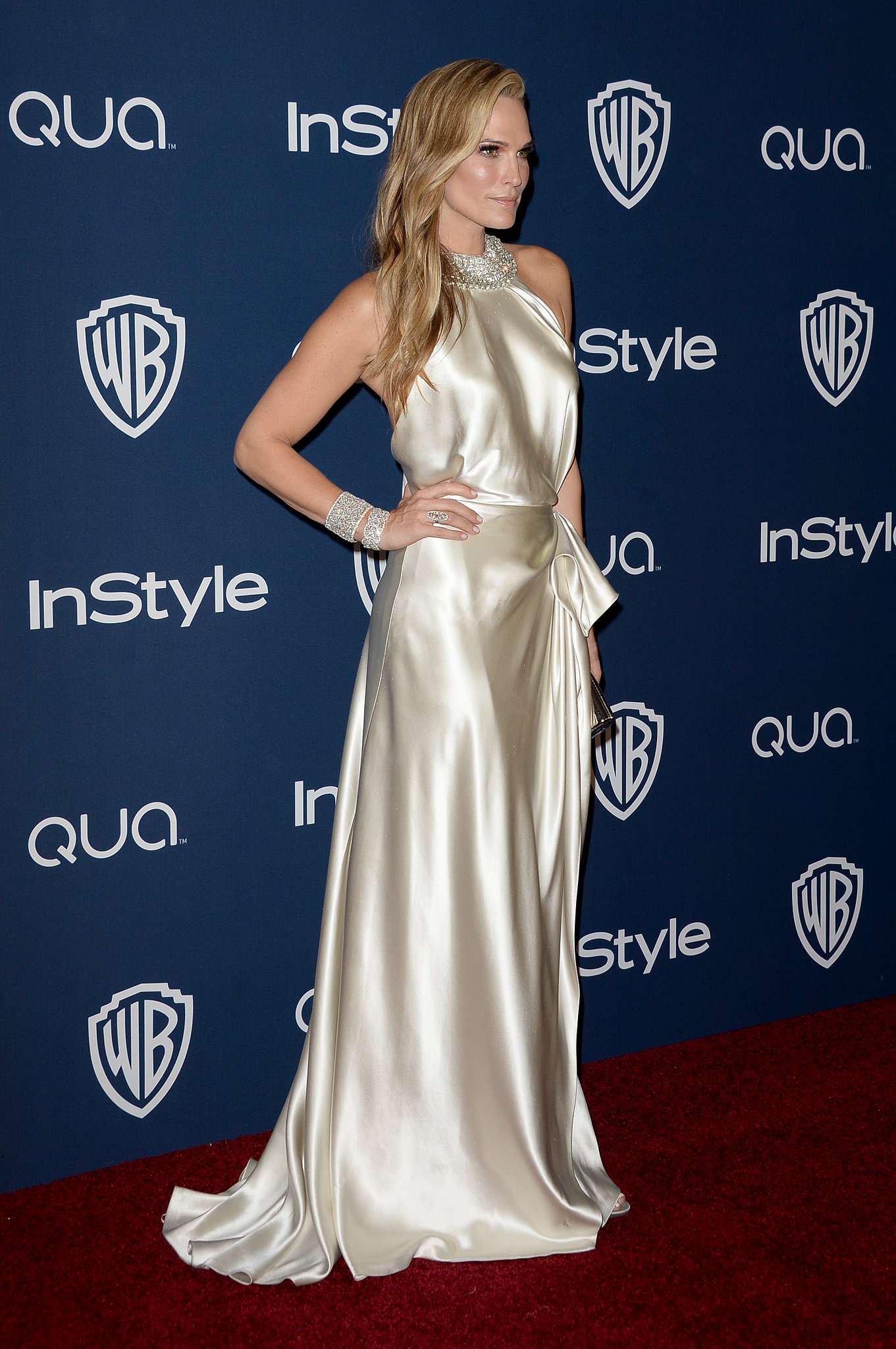 Molly Sims at the InStyle Golden Globes party.