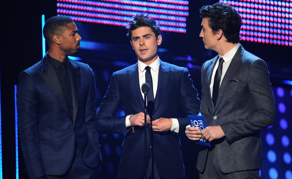 13. Zac Efron and His Sexy Hair Present a People's Choice Award
