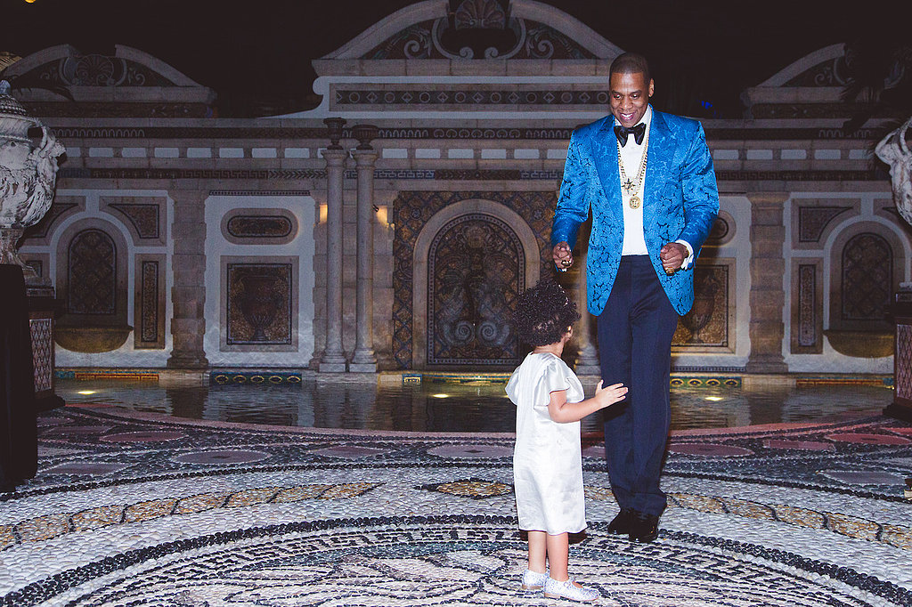 Blue Ivy danced with her dad during their New Year's Eve party in Miami. Source: Tumblr user Beyoncé Knowles