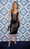 Jennifer Lopez showed skin at Fox's Winter TCA party on Monday in LA.