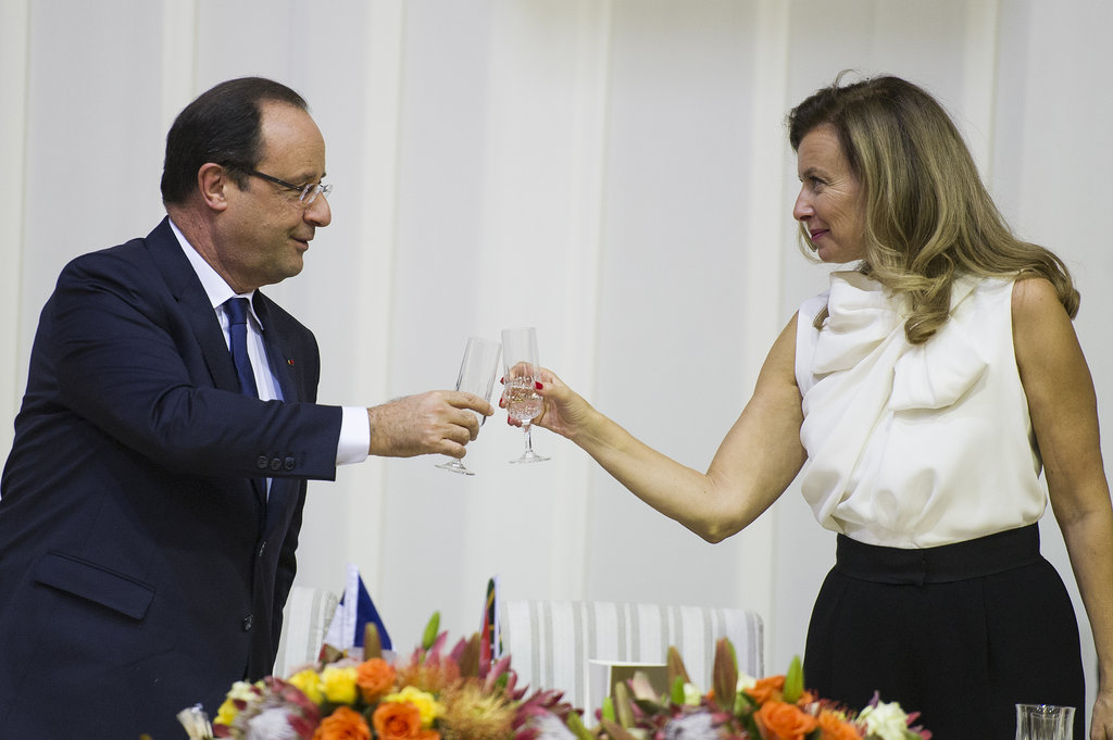 Valerie Trierweiler, a journalist, and President Hollande have been together since 2007 when Hollande reportedly left his partner of 30 years for her.