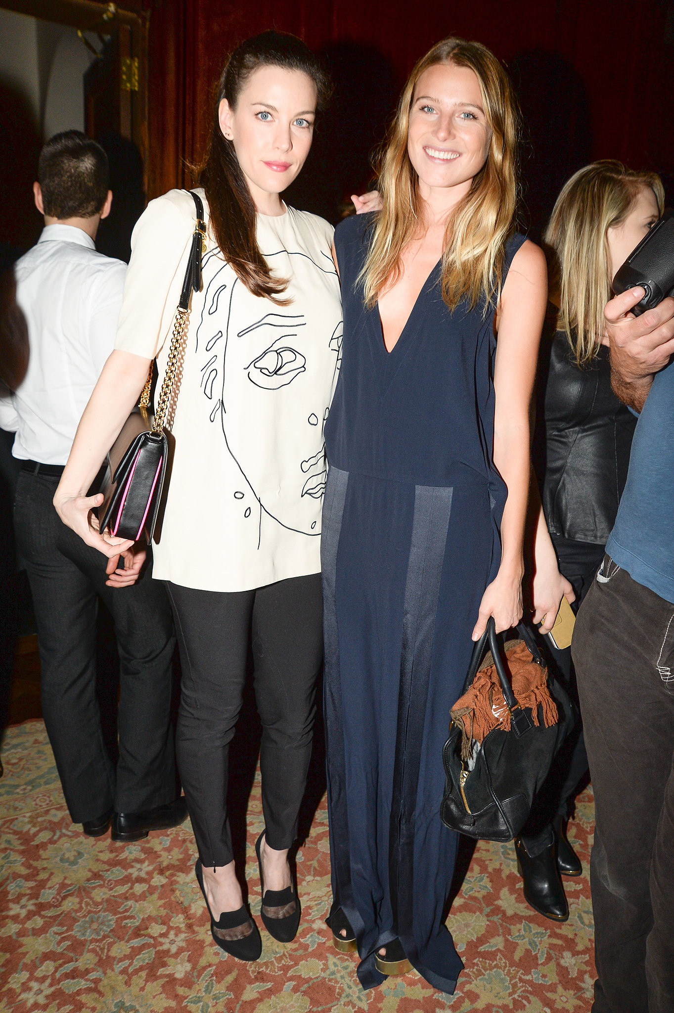Liv Tyler and Dree Hemingway at the Stella McCartney Pre-Fall 2014 presentation.
