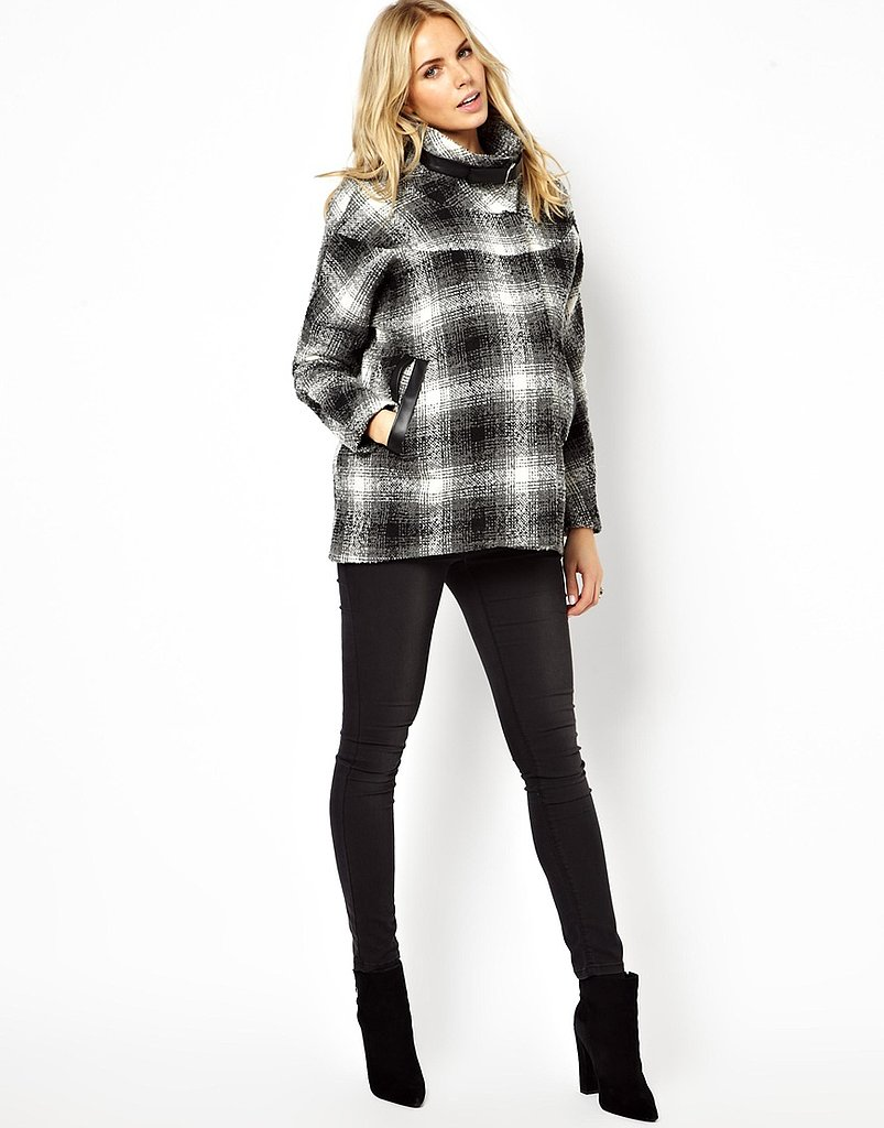 ASOS Maternity Exclusive Coat in Check