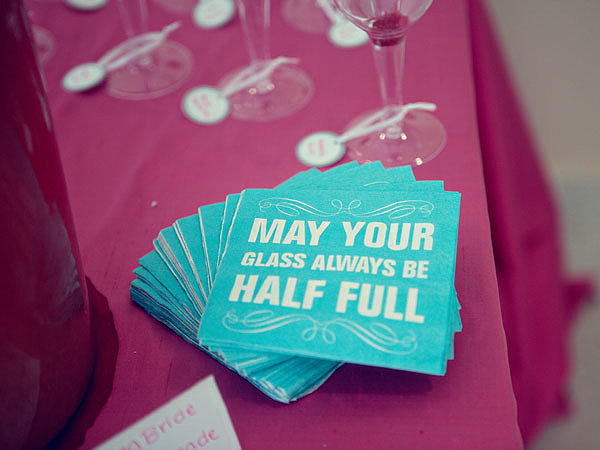 Personalized cocktail napkins add a sweet touch. Photo by Serendipity Studios