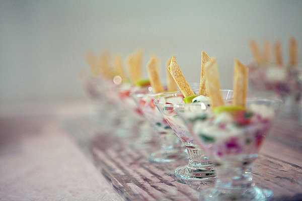 Keep the foods small and classy — definitely award show worthy. Photo by Serendipity Studios
