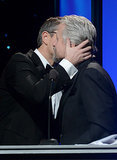 Matt Damon kissed Michael Douglas.