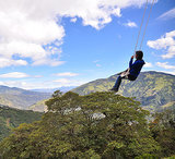 Swing on the Edge of the World in Ecuador