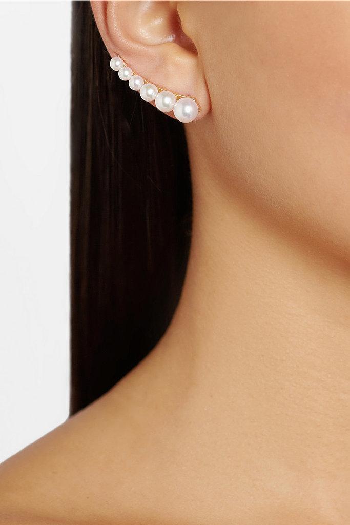 Moschino Sophie Bille Brahe 14-Karat Gold Pearl Ear Cuff ($2,850)