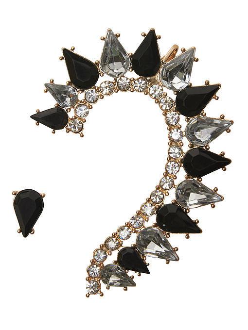 Arden B Teardrop Stone Earcuff ($24)