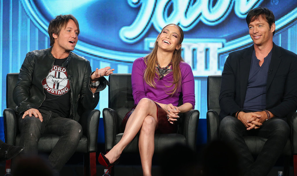 The new American Idol judges laughed together.