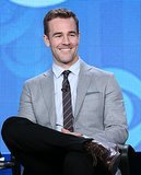 James Van Der Beek showed off his signature smile.