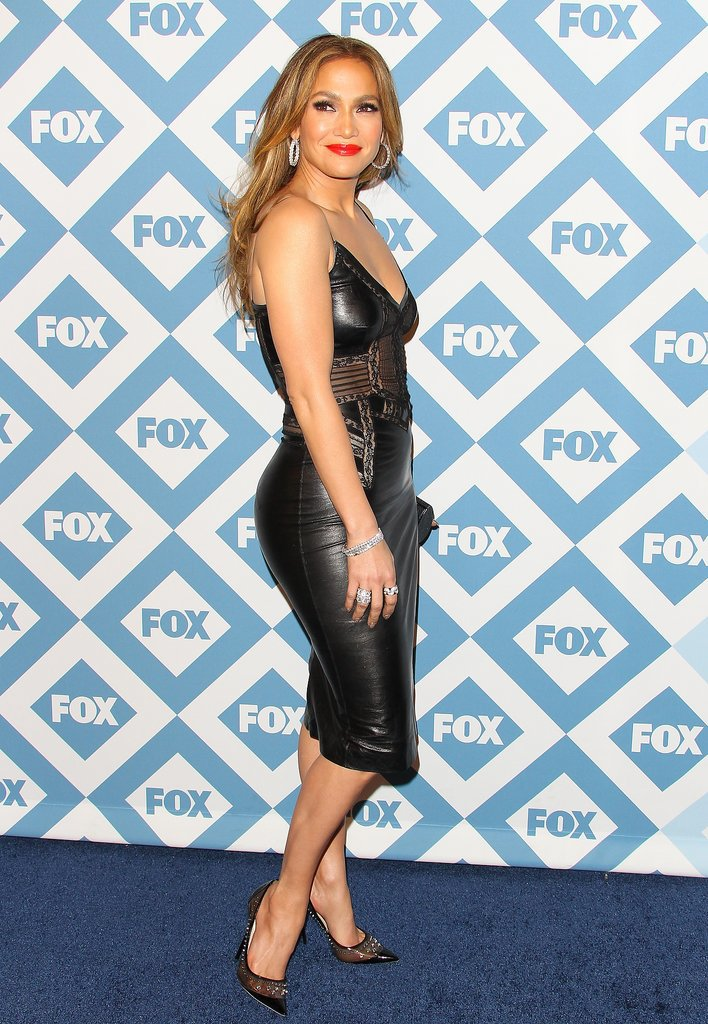 Jennifer Lopez stunned at the Fox All-Star Party.