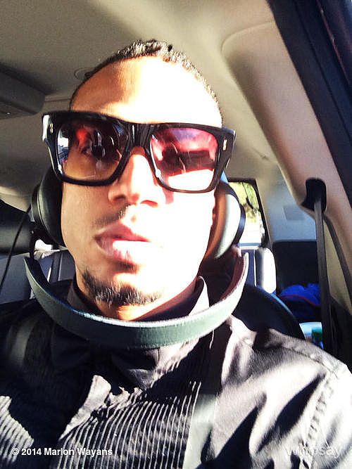 Marlon Wayans took a selfie on his way to the show. Source: WhoSay user Marlon Wayans