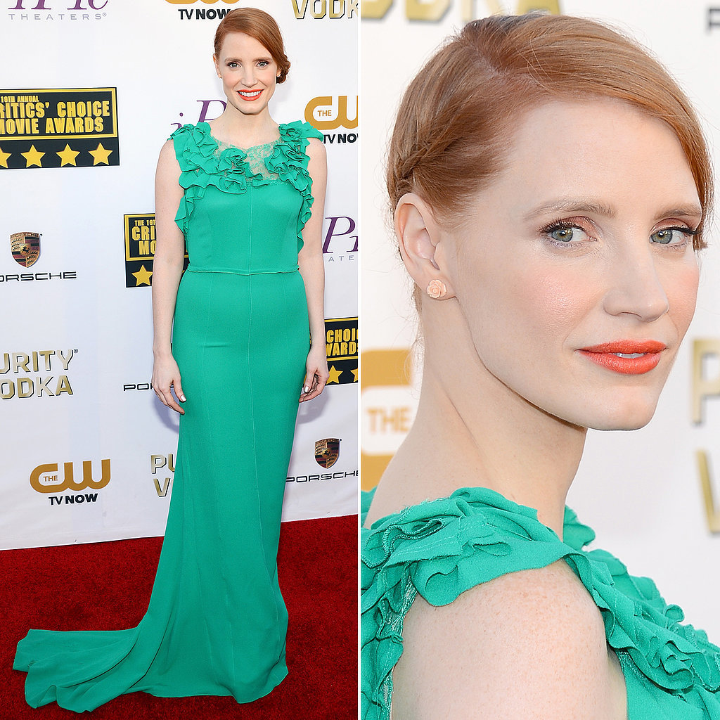 Jessica Chastain's Dress at Critics' Choice Awards 2014