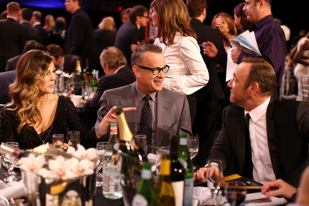 Tom Hanks, Rita Wilson, and Kevin Spacey shared a table and many laughs.