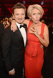 Emma Thompson had fun with Jeremy Renner.