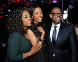 Oprah, Aisha Tyler, and Forest Whitaker posed for a sweet pic.