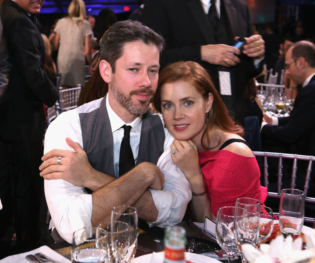 Amy Adams snuggled up to her husband for a photo.