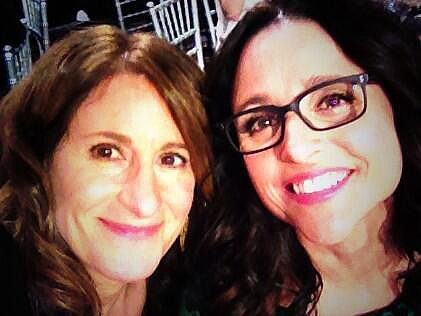 Julia Louis-Dreyfus snapped a selfie at the show. Source: Twitter user OfficialJLD