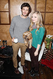 Adam Brody and Amanda Seyfried posed with an adorable dog as they promoted Lovelace in 2013