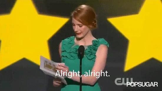 Jessica Chastain Did a Matthew McConaughey Impression, Too