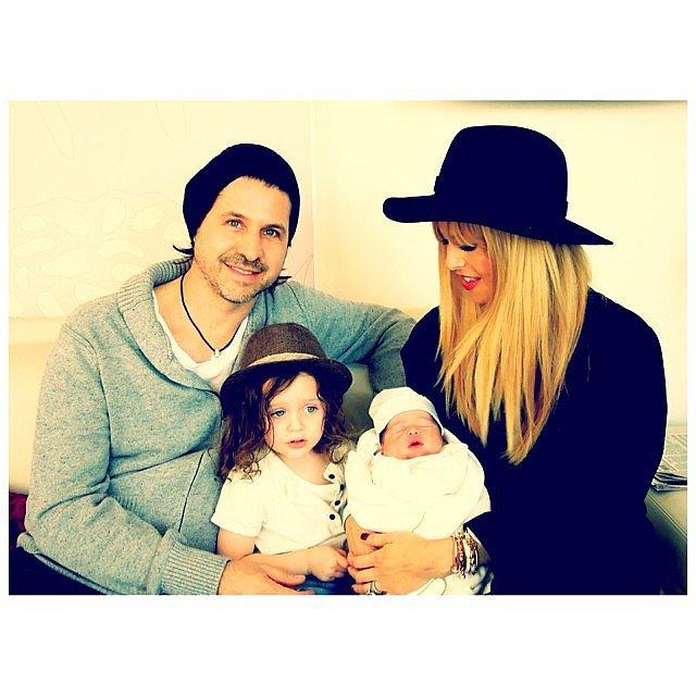 Rachel Zoe showed off her family of four's first family photo in honor of throwback Thursday.  Source: Instagram user rachelzoe