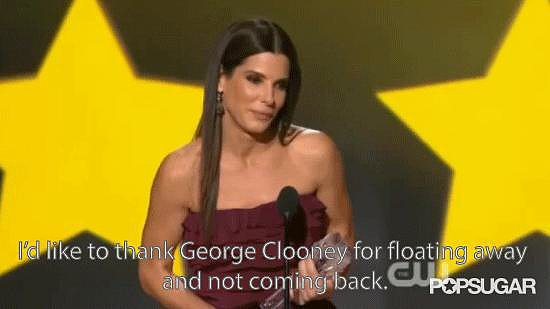 Sandra Bullock Thanked George Clooney For Ditching Her in Gravity