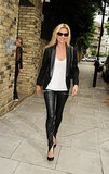 25. She Wears Leather Trousers Effortlessly