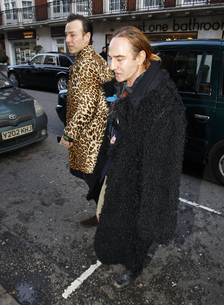 John Galliano was a guest at Kate's birthday lunch.
