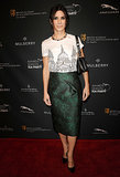 Sandra Bullock in Burberry Prorsum at the BAFTA Tea Party