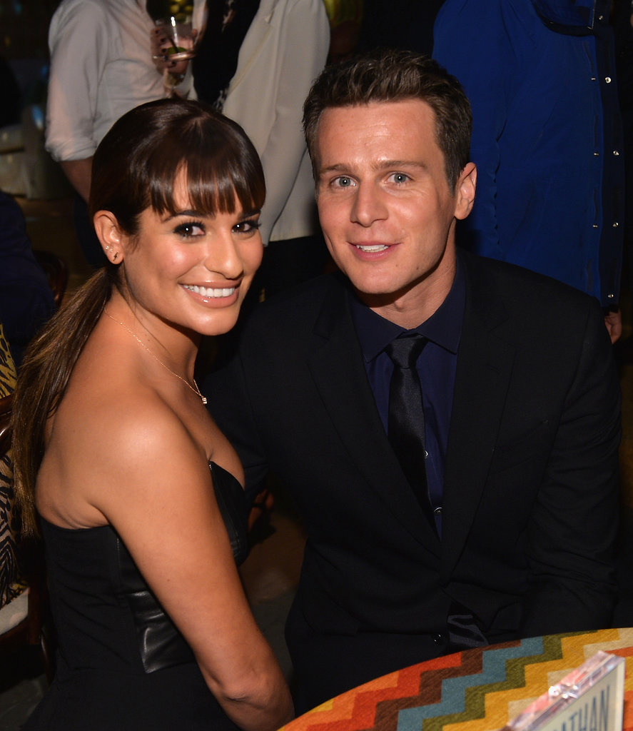 Lea Michele supported her best friend Jonathan Groff at the LA premiere of his new HBO show, Looking, on Wednesday.