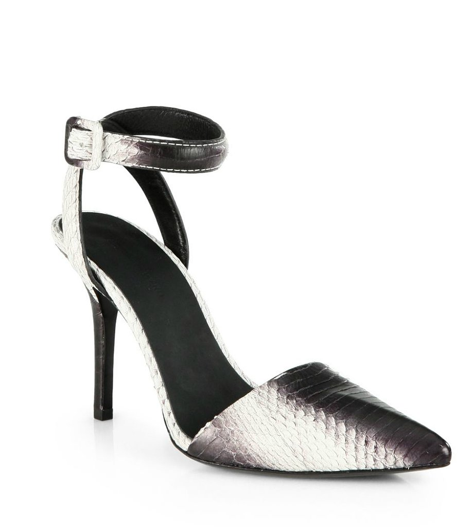 Alexander Wang Lovisa Snakeskin Ankle-Strap Sandals ($258, originally $645)