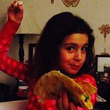 Soleil Moon Frye's homemade tacos were a hit with her daughters. Source: Instagram user moonfrye