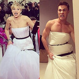 Colton Haynes as Jennifer Lawrence at the Golden Globes
