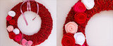 Celebrate With a Yarn-Wrapped Wreath For Valentine's Day