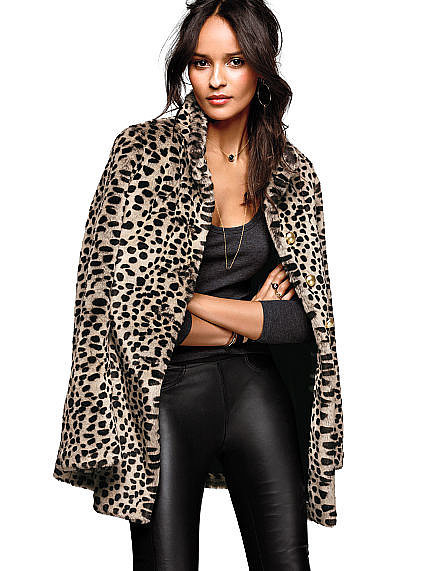 Victoria's Secret Faux Fur Leopard Coat ($148, originally $198)