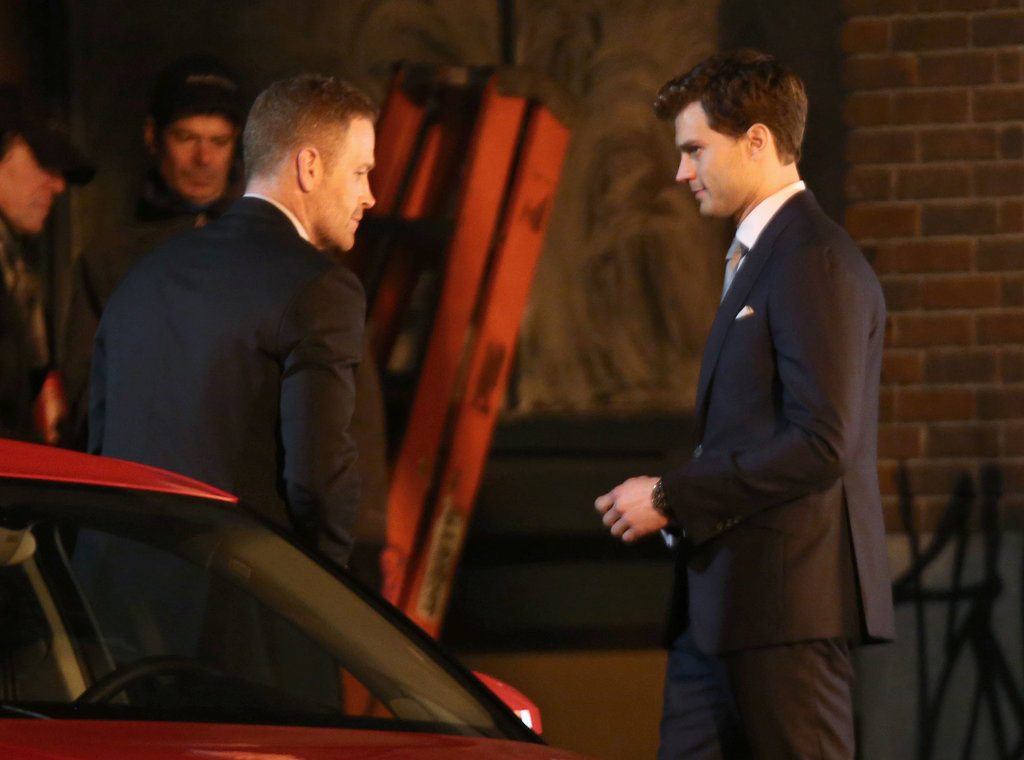 Max Martini filmed his first scene as Christian Grey's bodyguard with Dornan.