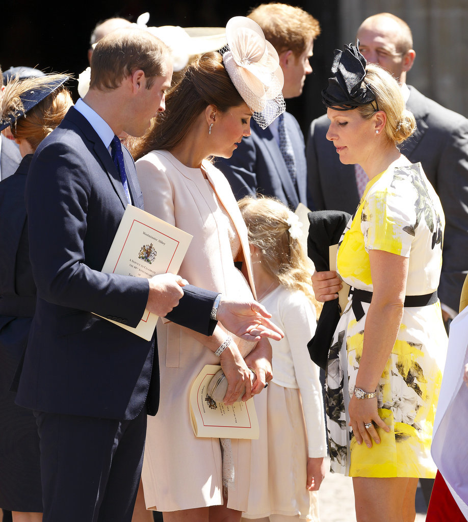 In June 2013, Zara and Kate appeared to check out each other's baby bumps during a service marking 60 years since Queen Elizabeth's coronation.