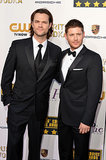 Jared and Jensen hung out on the red carpet.