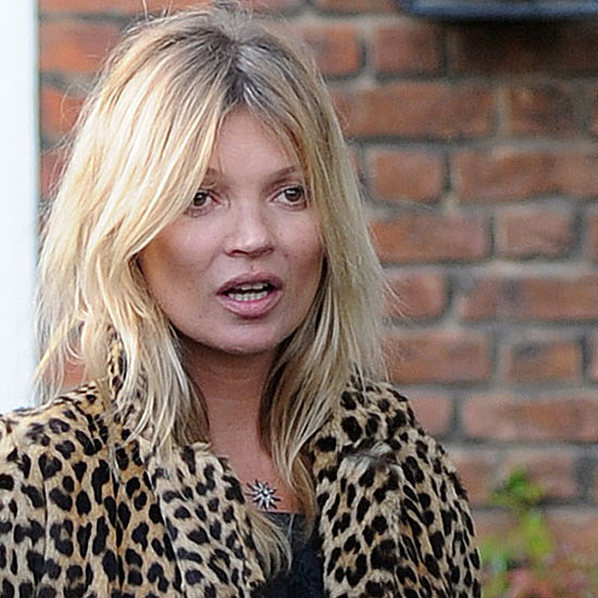 Kate Moss Wearing Leopard Print Coat