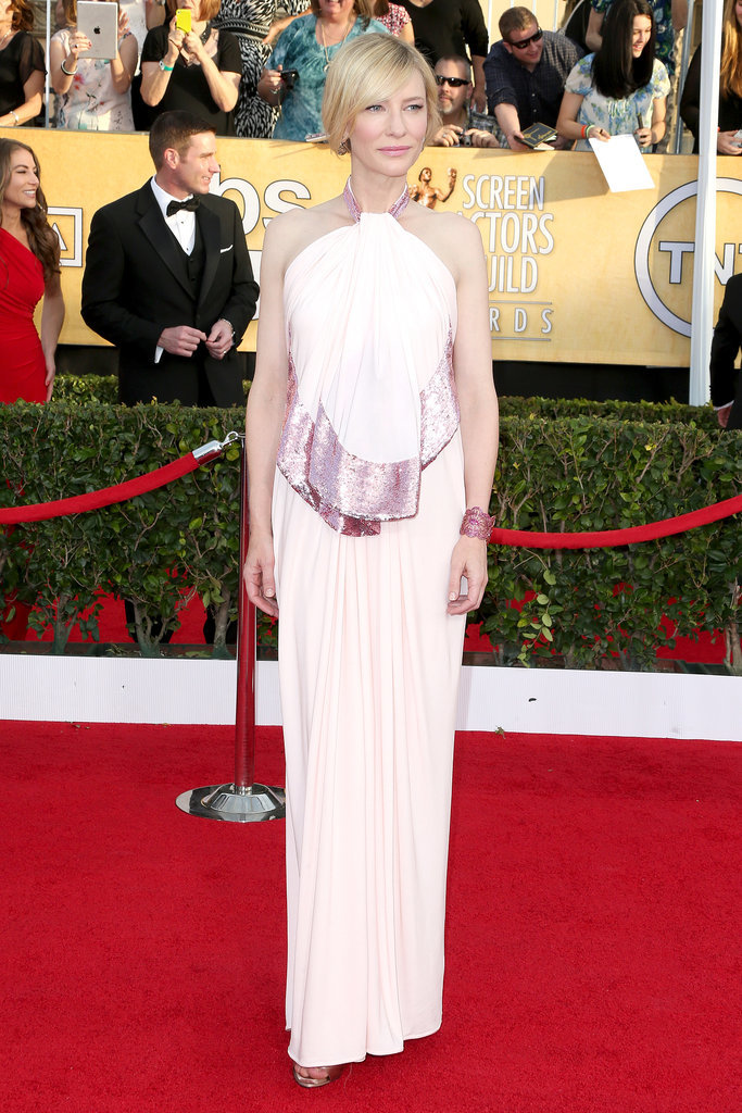 Cate Blanchett dropped jaws in her pale pink Givenchy gown.