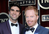 Jesse Tyler Ferguson was all smiles alongside Justin Mikita.