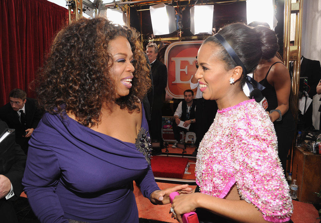 Oprah Winfrey and Kerry Washington were too cute, chatting on the SAG Awards red carpet.