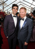 Jesse Tyler Ferguson was all smiles with his husband, Justin Mikita.