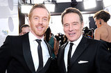 Damian Lewis and Bryan Cranston buddied up in black tie.
