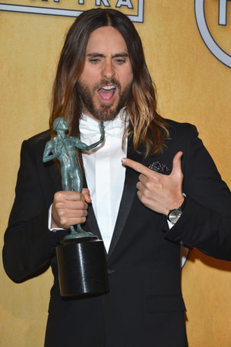 Jared Leto was psyched when he took home the SAG Award for his work in Dallas Buyers Club.
