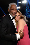 Julia Roberts got close to Morgan Freeman.