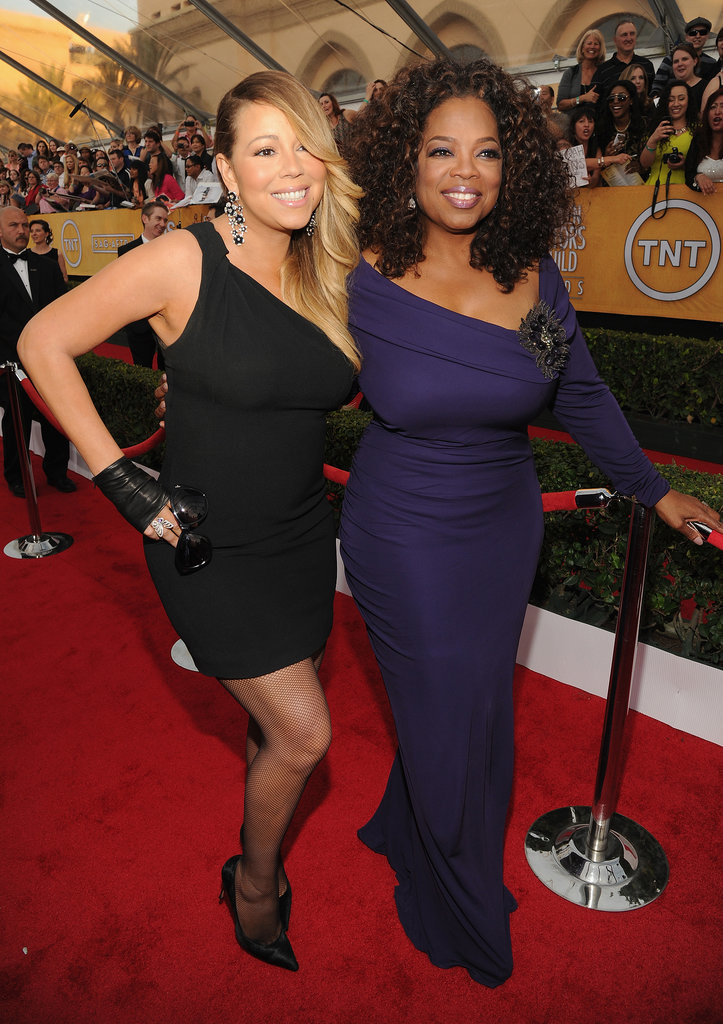 Mariah Carey and Oprah Winfrey doubled up at the SAG Awards.